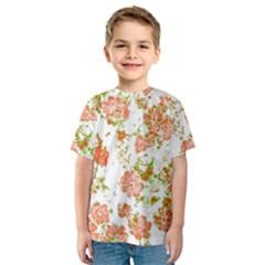 Floral Dreams 12 D Kids  Sport Mesh Tee