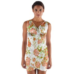 Floral Dreams 12 D Wrap Front Bodycon Dress