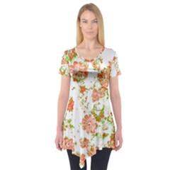 Floral Dreams 12 D Short Sleeve Tunic