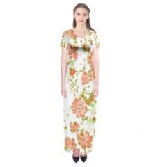 Floral Dreams 12 D Short Sleeve Maxi Dress