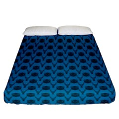 Lion Vs Gazelle Damask In Teal Fitted Sheet (california King Size) by emilyzragz