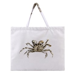 Dark Crab Photo Zipper Large Tote Bag by dflcprints