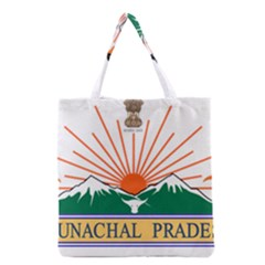 Indian State Of Arunachal Pradesh Seal Grocery Tote Bag by abbeyz71