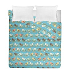 Assorted Birds Pattern Duvet Cover Double Side (full/ Double Size)