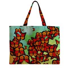 Monarch Butterflies Medium Tote Bag by linceazul