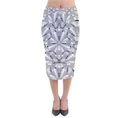 Modern Oriental Ornate Velvet Midi Pencil Skirt by dflcprintsclothing