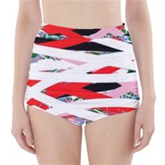 Art High Waisted Bikini Bottoms by Valentinaart