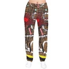 Art Drawstring Pants by Valentinaart