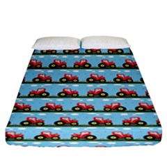 Toy Tractor Pattern Fitted Sheet (king Size) by linceazul
