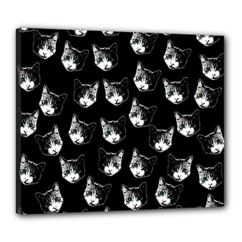 Cat Pattern Canvas 24  X 20  by Valentinaart