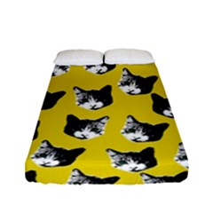 Cat Pattern Fitted Sheet (full/ Double Size) by Valentinaart