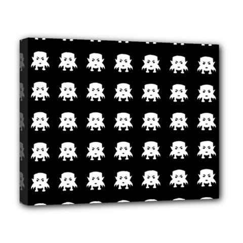Emoji Baby Vampires Pattern Deluxe Canvas 20  X 16   by dflcprints
