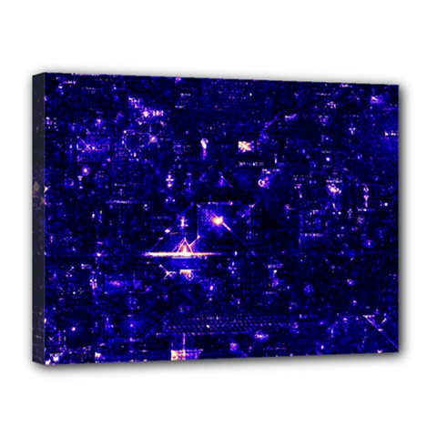 /r/place Indigo Canvas 16  X 12  by rplace