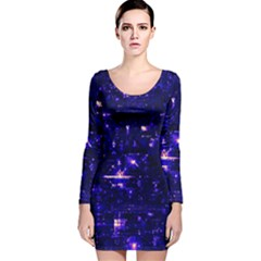 /r/place Indigo Long Sleeve Velvet Bodycon Dress by rplace
