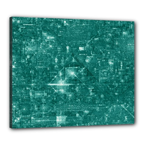 /r/place Emerald Canvas 24  X 20  by rplace
