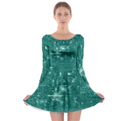 /r/place Emerald Long Sleeve Skater Dress by rplace