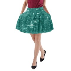 /r/place Emerald A Line Pocket Skirt by rplace