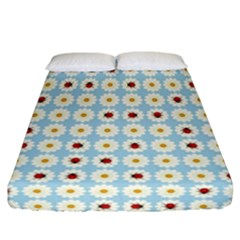 Ladybugs Pattern Fitted Sheet (california King Size) by linceazul