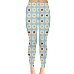 Ladybugs Pattern Classic Winter Leggings by linceazul