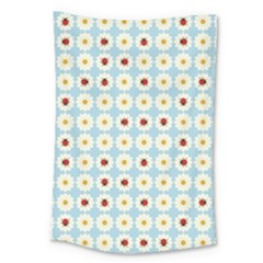 Ladybugs Pattern Large Tapestry by linceazul
