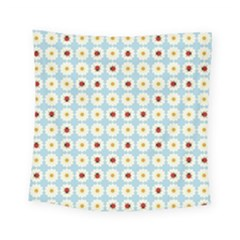 Ladybugs Pattern Square Tapestry (small) by linceazul