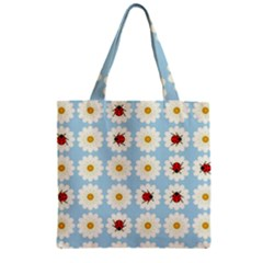 Ladybugs Pattern Zipper Grocery Tote Bag by linceazul