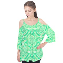 Kiwi Green Geometric Flutter Tees by linceazul