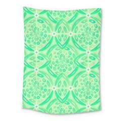 Kiwi Green Geometric Medium Tapestry by linceazul