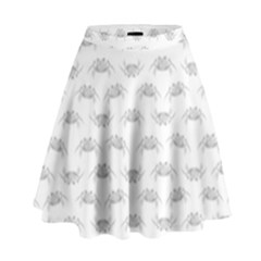 Pop Art Style Crabs Motif Pattern High Waist Skirt by dflcprintsclothing