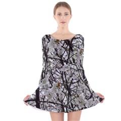 Blossom Long Sleeve Velvet Skater Dress by DeneWestUK