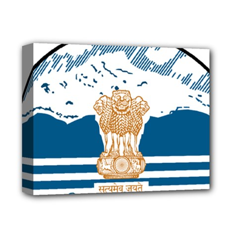 Seal Of Indian Sate Of Himachal Pradesh Deluxe Canvas 14  X 11  by abbeyz71
