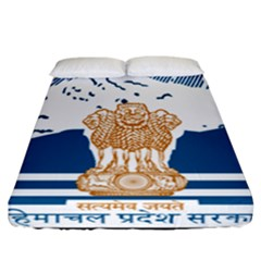Seal Of Indian Sate Of Himachal Pradesh Fitted Sheet (california King Size) by abbeyz71