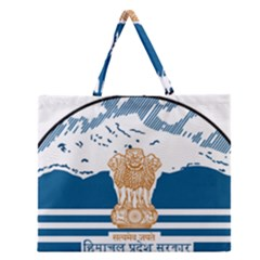 Seal Of Indian Sate Of Himachal Pradesh Zipper Large Tote Bag by abbeyz71
