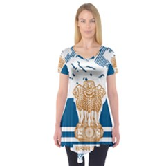 Seal Of Indian Sate Of Himachal Pradesh Short Sleeve Tunic  by abbeyz71
