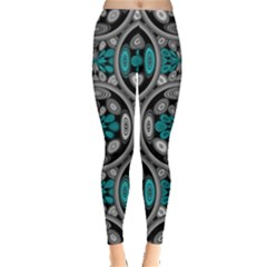 Geometric Arabesque Leggings  by linceazul
