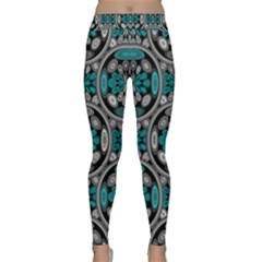 Geometric Arabesque Classic Yoga Leggings by linceazul