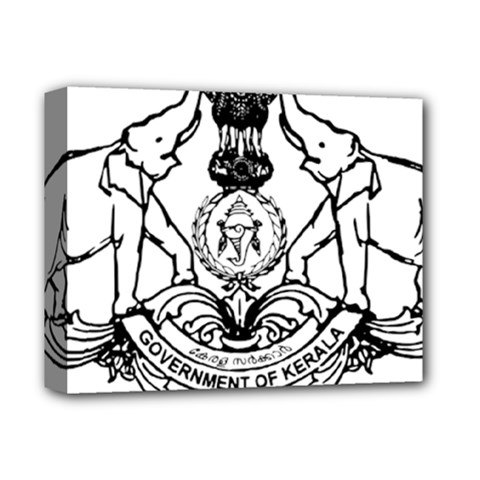 Seal Of Indian State Of Kerala  Deluxe Canvas 14  X 11  by abbeyz71