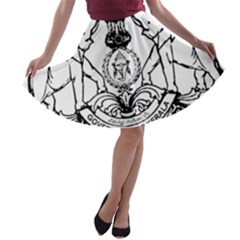 Seal Of Indian State Of Kerala A Line Skater Skirt by abbeyz71