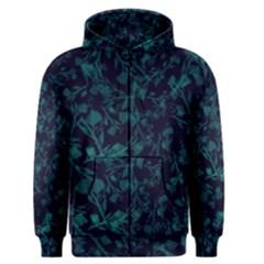 Leaf Pattern Men s Zipper Hoodie by berwies