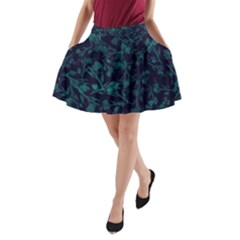 Leaf Pattern A Line Pocket Skirt by berwies