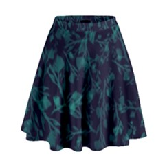 Leaf Pattern High Waist Skirt by berwies