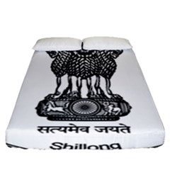 Seal Of Indian State Of Meghalaya Fitted Sheet (queen Size) by abbeyz71