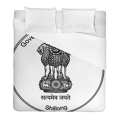Seal Of Indian State Of Meghalaya Duvet Cover (full/ Double Size) by abbeyz71
