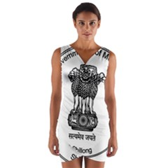 Seal Of Indian State Of Meghalaya Wrap Front Bodycon Dress by abbeyz71