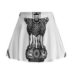 Seal Of Indian State Of Meghalaya Mini Flare Skirt by abbeyz71