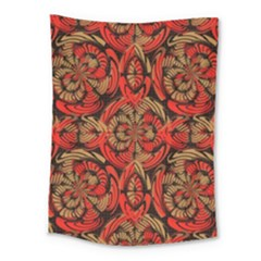 Red And Brown Pattern Medium Tapestry by linceazul