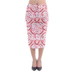 Geometric Harmony Midi Pencil Skirt by linceazul