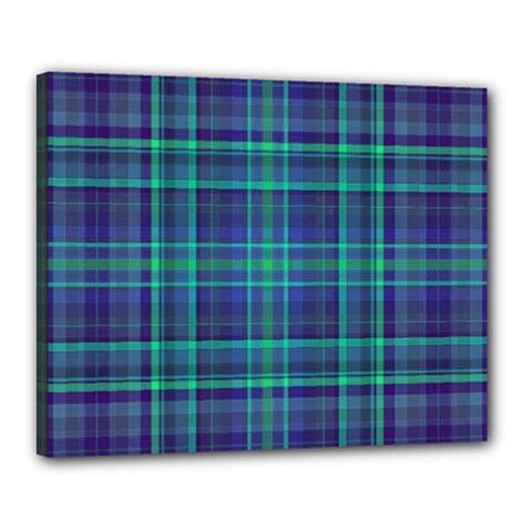 Plaid Design Canvas 20  X 16  by Valentinaart
