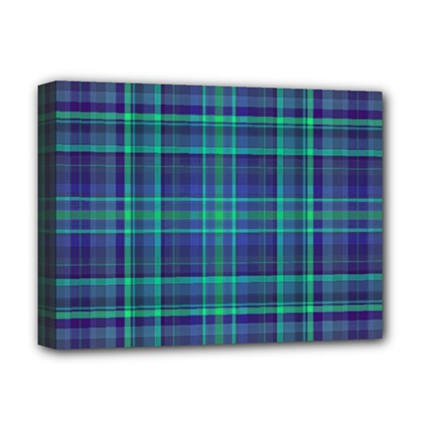 Plaid Design Deluxe Canvas 16  X 12   by Valentinaart