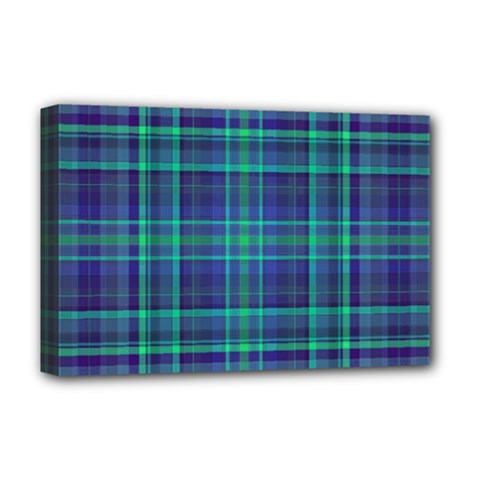 Plaid Design Deluxe Canvas 18  X 12   by Valentinaart